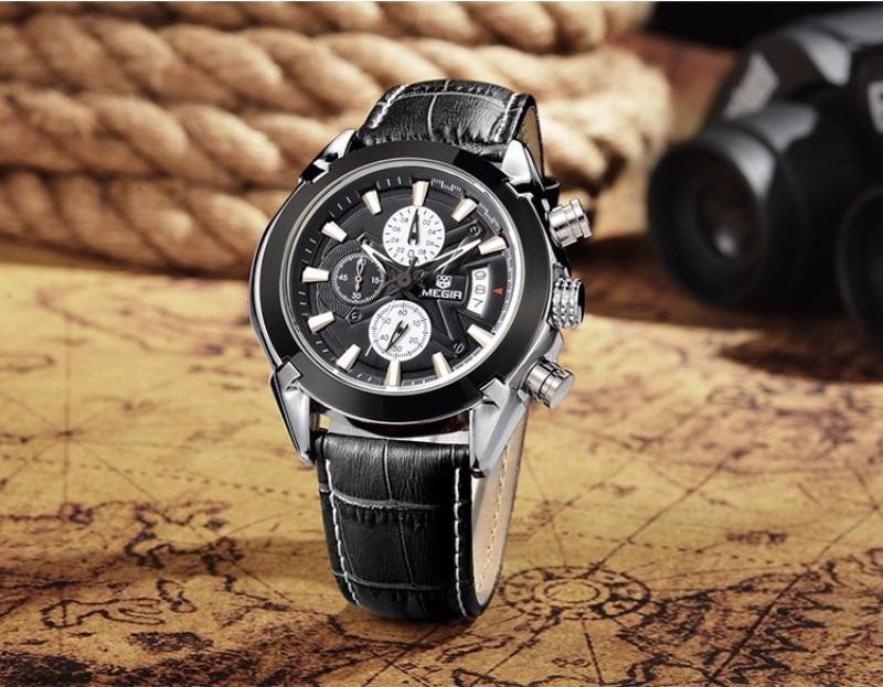 relógio masculino megir m2020 original promoção frete gratis. Carregando  zoom. 10d9f03106