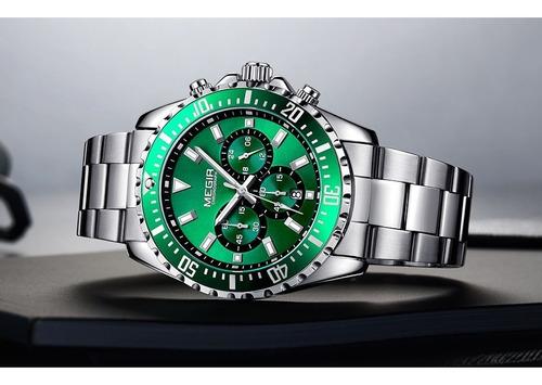 relógio masculino megir original pronta entrega modelo 2064