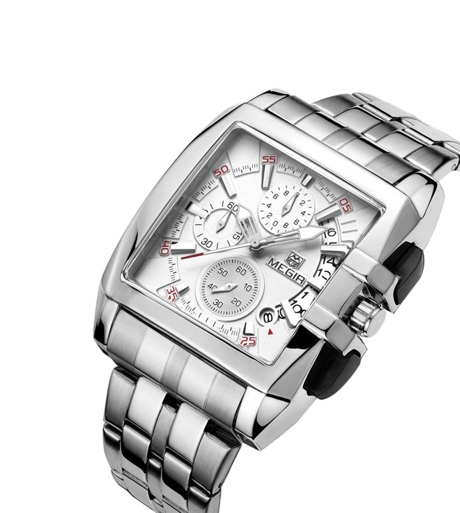 a4e4cb4c1a202 relógio masculino megir prata com branco modelo megir 2018. Carregando zoom.