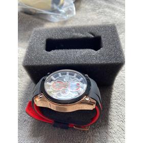 Relógio Masculino Megir Vermelho E Preto
