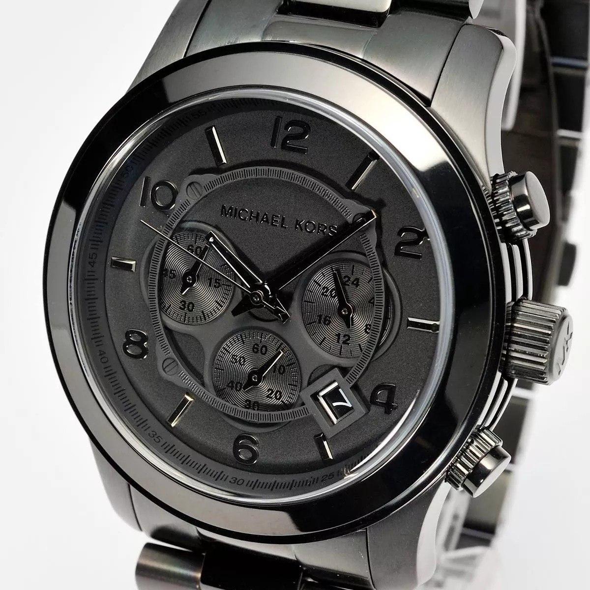 4542188701 relógio masculino michael kors-8157 black com caixa completo. Carregando  zoom.