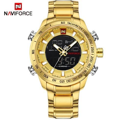 6ba41edb330 Relógio Masculino Militar Dourado Dual Digital anal Promoção - R ...