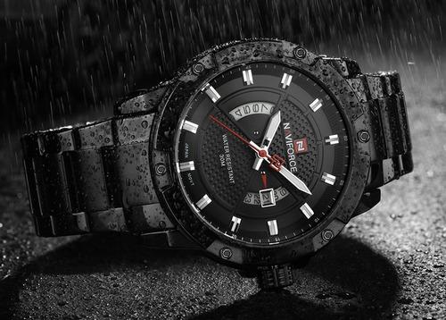 relógio masculino militar esportivo data naviforce original