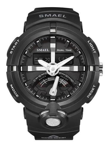 relógio masculino militar esportivo digital smael 1637 black