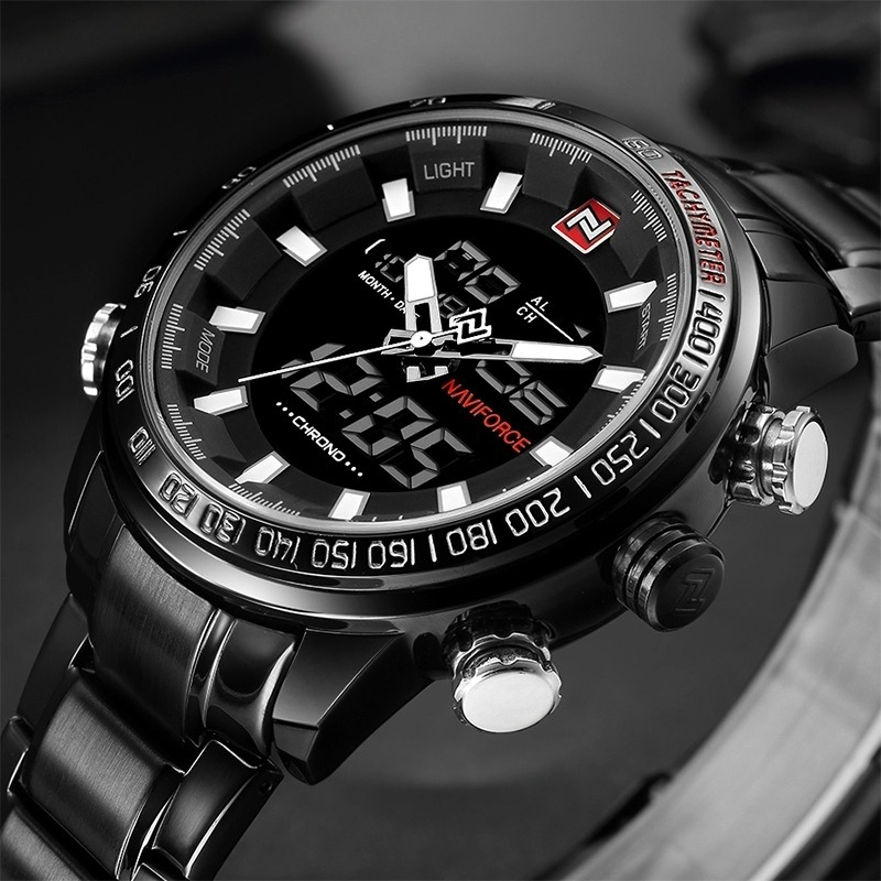 51a7973fbb8 relógio masculino militar esportivo luxo naviforce original. Carregando zoom .