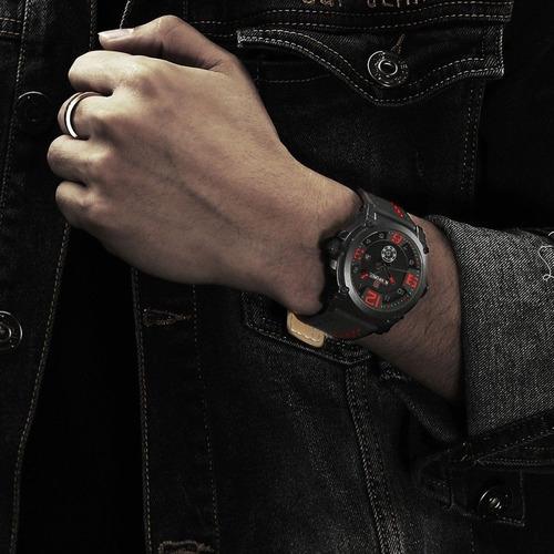 relógio masculino militar esportivo naviforce pulseira 9099