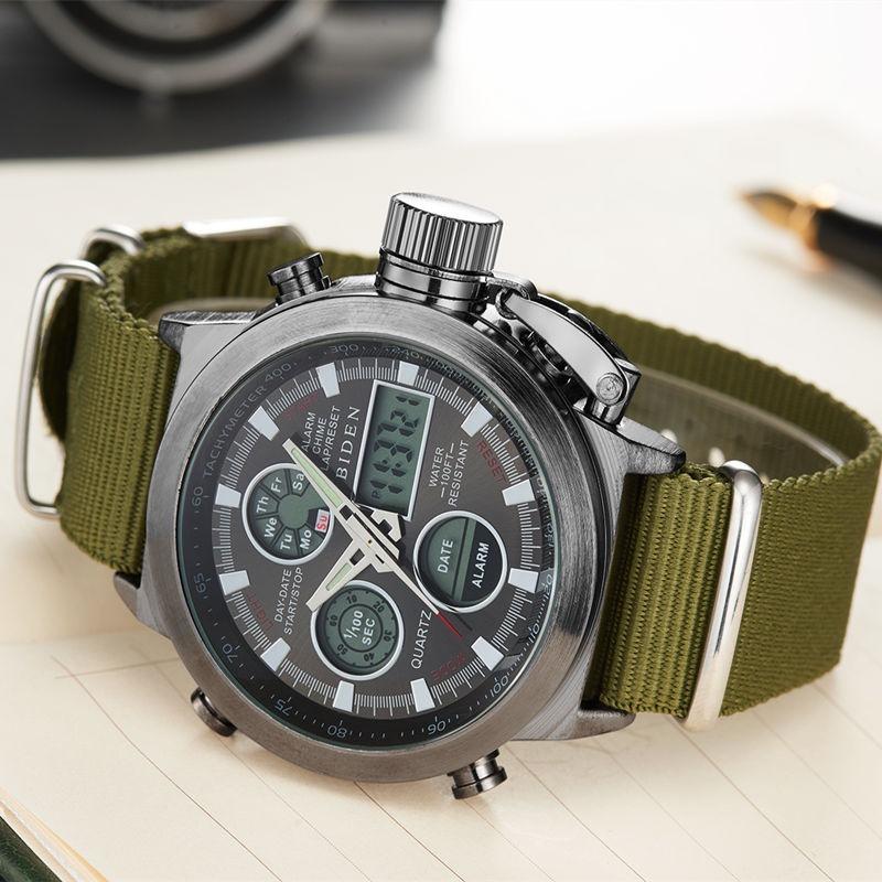 6e412a92c73 relógio masculino militar esportivo nylon preto frete gratis. Carregando  zoom.