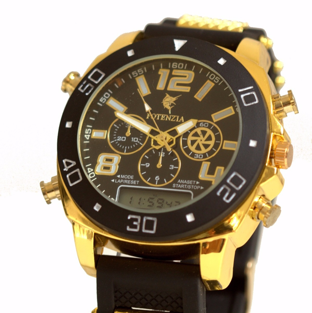 b4efdefddd2 relógio masculino militar grande barato dourado. Carregando zoom.