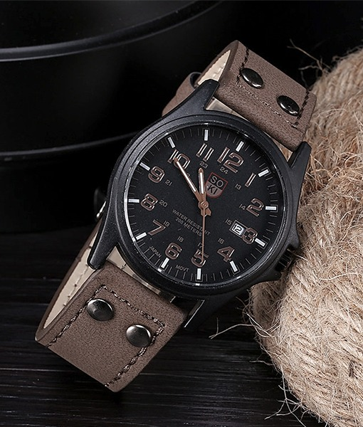 61fb0d35227 Relógio Masculino Militar Luxo Soki Quartz - R  40