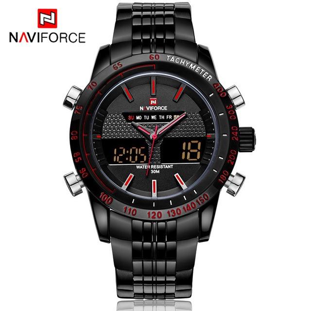 6e9f0c00b38 Relógio Masculino Militar Naviforce Nf9024 Led Frete Grátis - R  129 ...