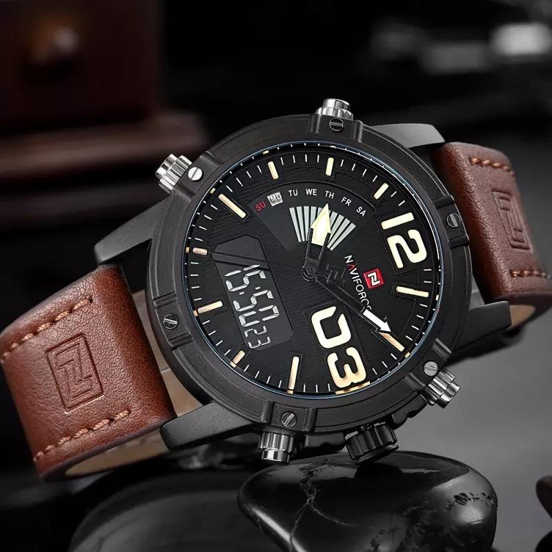599c5e27ec6 relógio masculino militar naviforce original pulseira couro. Carregando  zoom.