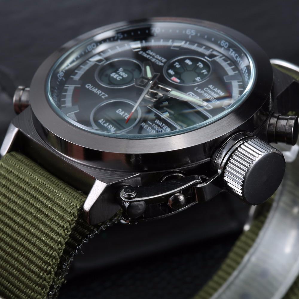 f1fee111f8b relógio masculino militar nylon esportivo gimto. Carregando zoom.