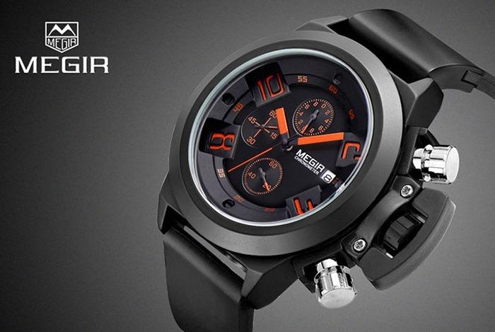 e1a31e48e28 Relógio Masculino Militar Preto Original Luxo - R  129