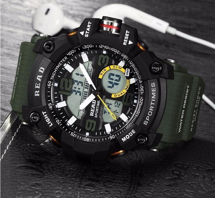 678f24dc359 Relógio Masculino Militar Read Shock Resistente Água - R  147