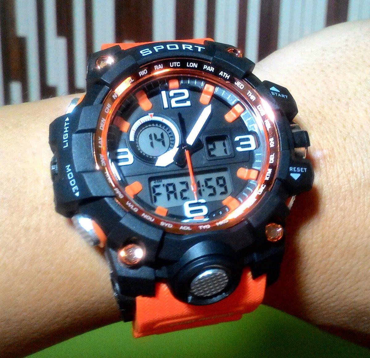 0f55a82e00d relógio masculino militar s shock sport digital prova dágua. Carregando  zoom.