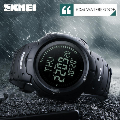 relógio masculino militar skmei 1231 bússola prova d'água