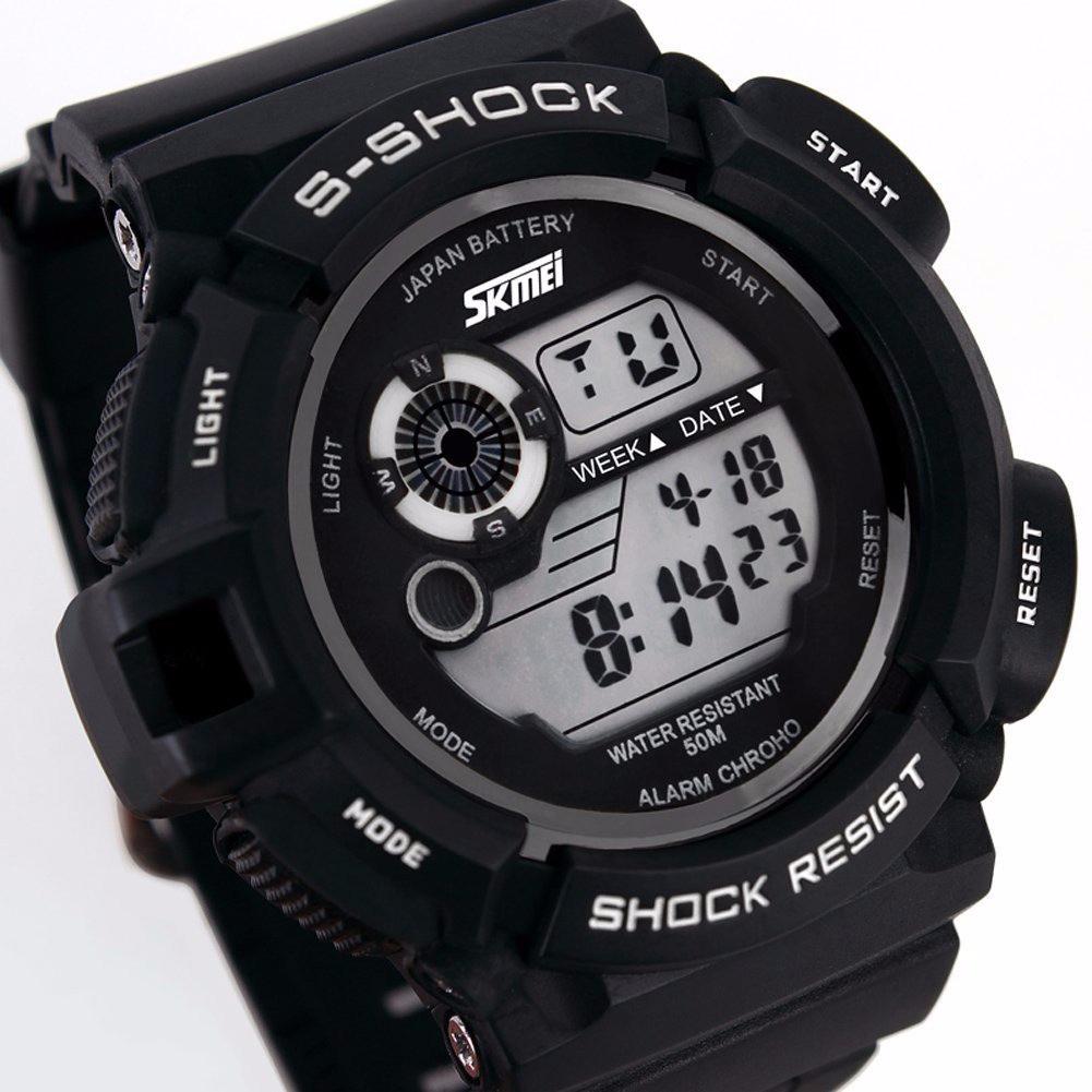 ad1a2850935 relógio masculino militar skmei s-shock digital prova d água. Carregando  zoom.