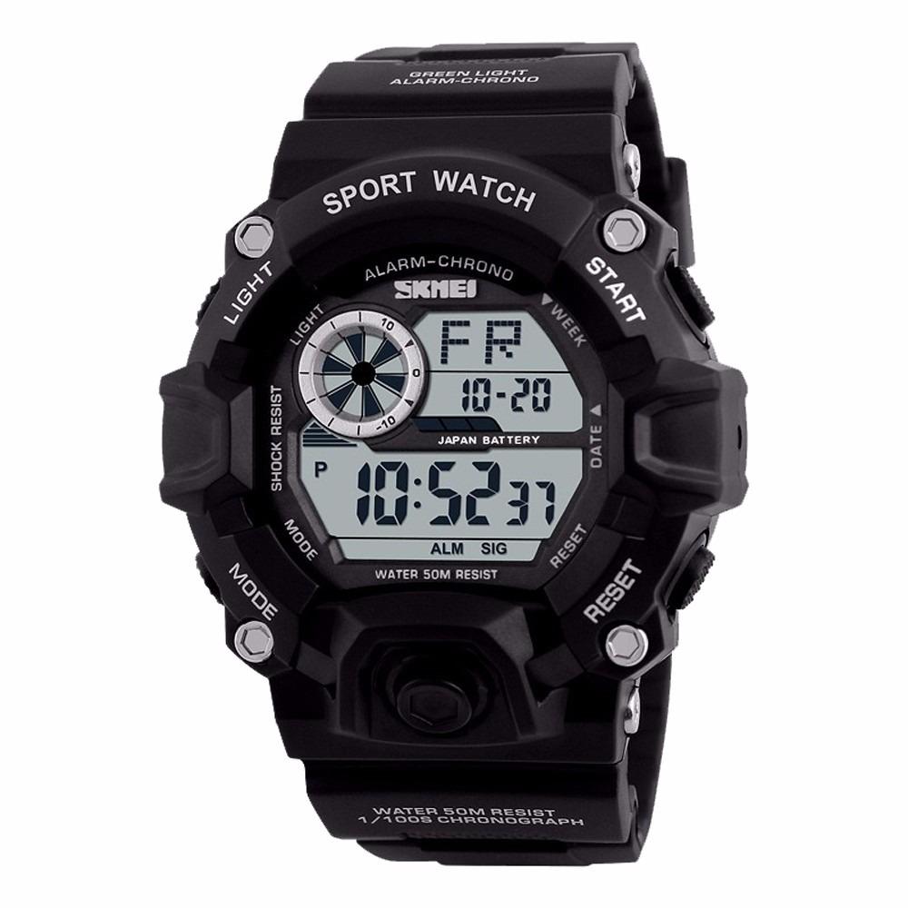 3981a6f1408 relógio masculino militar skmei s-shock digital prova d água. Carregando  zoom.