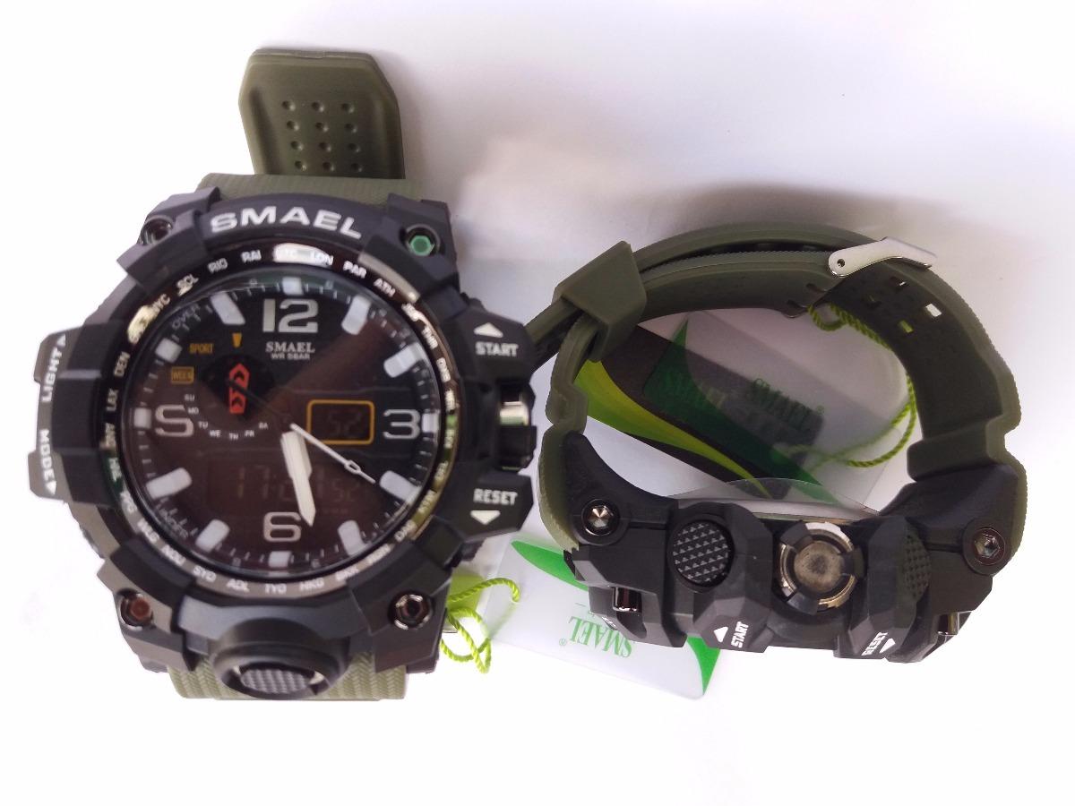 4847c98c3ca Relógio Masculino Militar Smael 1545 À Prova D água - R  89