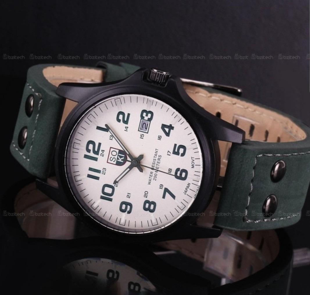 9efee8c0cd2 relógio masculino militar soki - sem bateria. Carregando zoom.