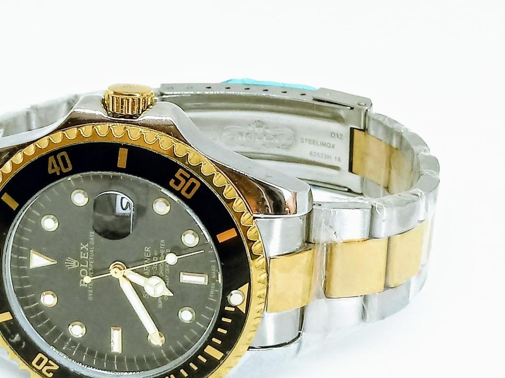 019371feef9 relogio masculino modelo rolex pulseira prova d água. Carregando zoom.