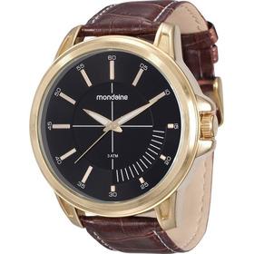 Relógio Masculino Mondaine 76604gpmvdh2 Pulseira De Couro