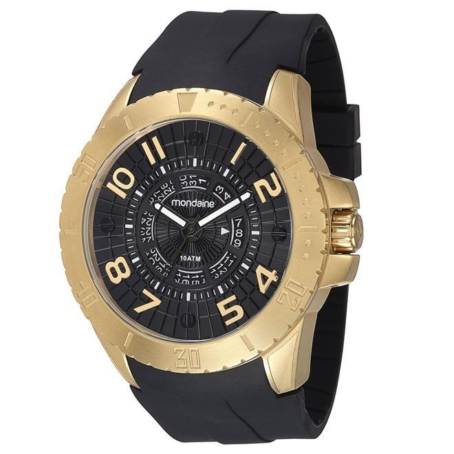 44be11d792c Relógio Masculino Mondaine Analógico 78609gpmvdu1 Dourado - R  220 ...