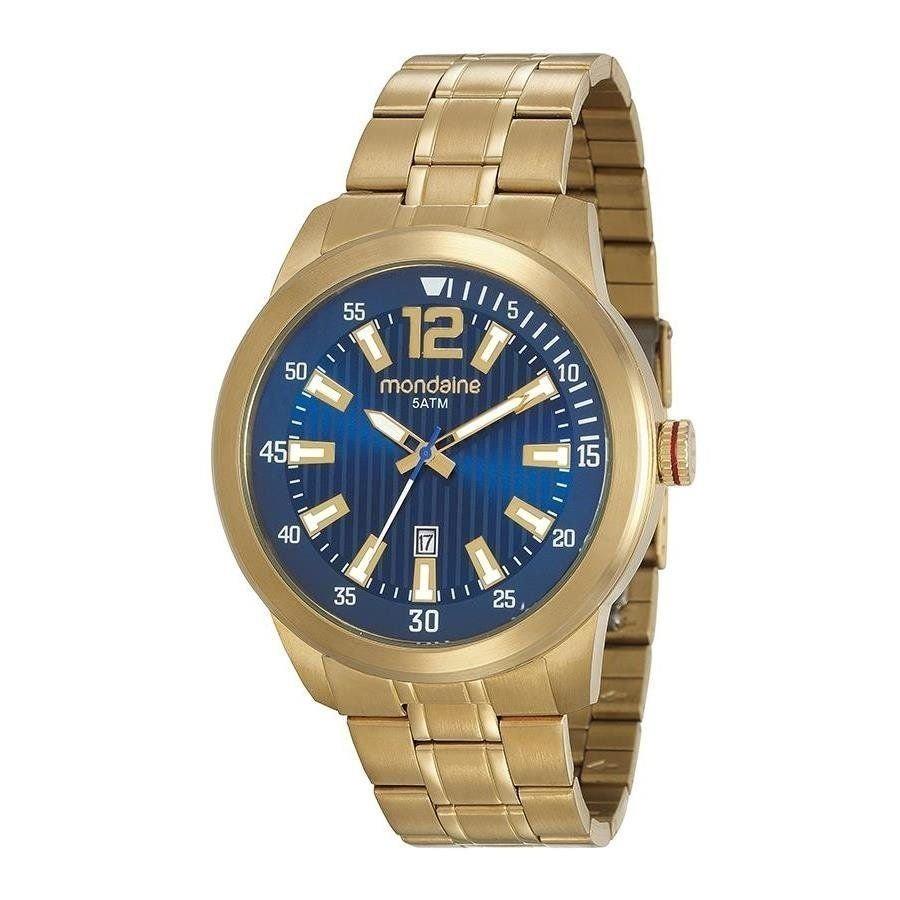 e68bf0facc3 Relógio Masculino Mondaine Dourado Analógico 99202gpmvda2 - R  260 ...