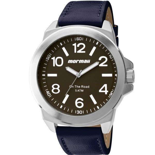 f343c6defd8 Relógio Masculino Mormaii On The Road Mo2035fe 3n Couro Azul - R ...