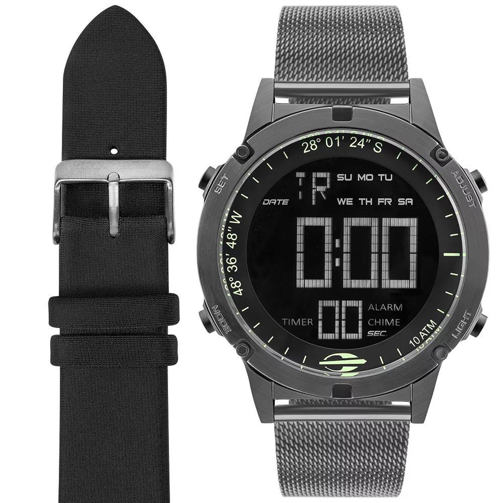 Relógio Masculino Mormaii Mow13901c t4c 46mm Aço Grafite - R  425,95 ... a9ae619457