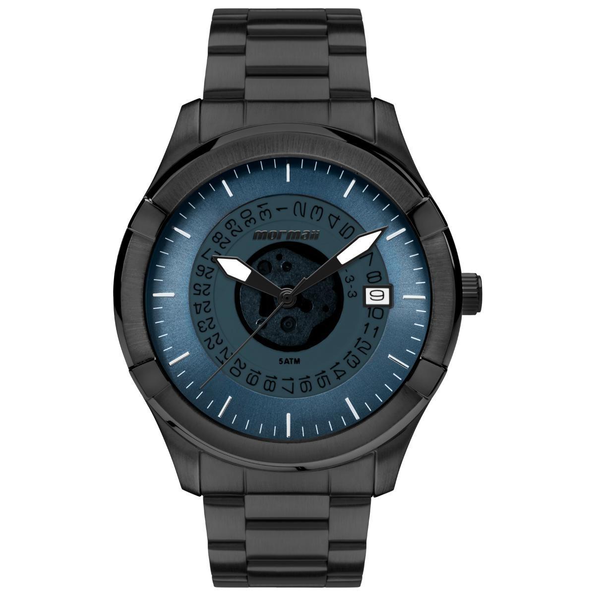 18e2f62eda25c Relógio Masculino Mormaii Mo2415ac 4a 48mm Aço Preto - R  255