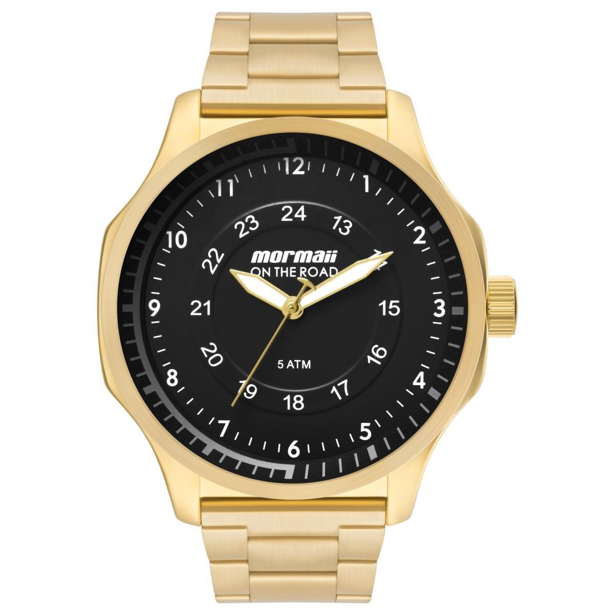 b1e9910c5bd4c Relógio Masculino Mormaii Mo2035gz 4d Pulseira Aço Dourada - R  204 ...