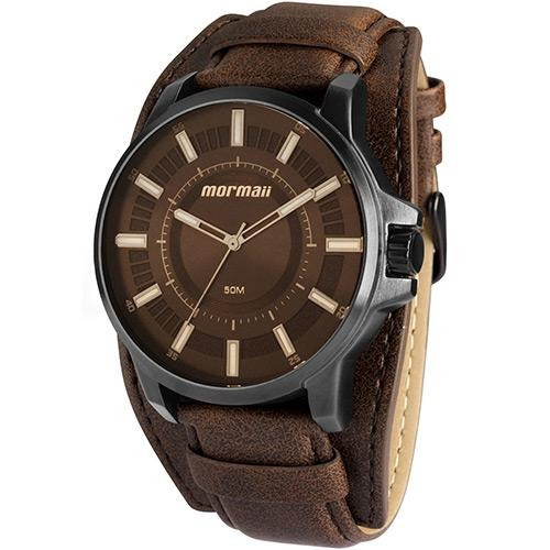 c6982e856ea11 Relógio Masculino Mormaii Mo2035aw 3c 47mm Couro Marrom - R  323