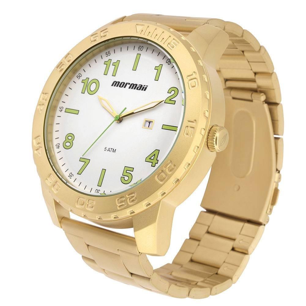 Relógio Masculino Mormaii Mo2115be 4b Dourado Extra Grande - R  319 ... caf9b23ec6