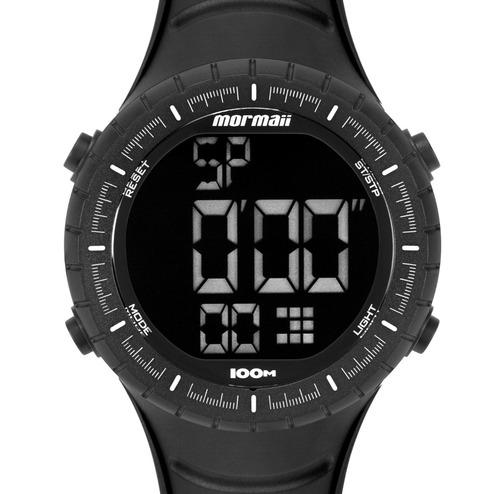 relógio masculino mormaii digital wave esportivo preto 10atm