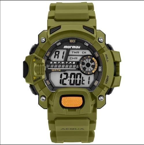 relógio masculino mormaii mozm1132/8v sports verde militar