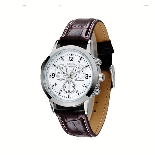 relógio masculino nary cronos no ornamento pulseira de couro