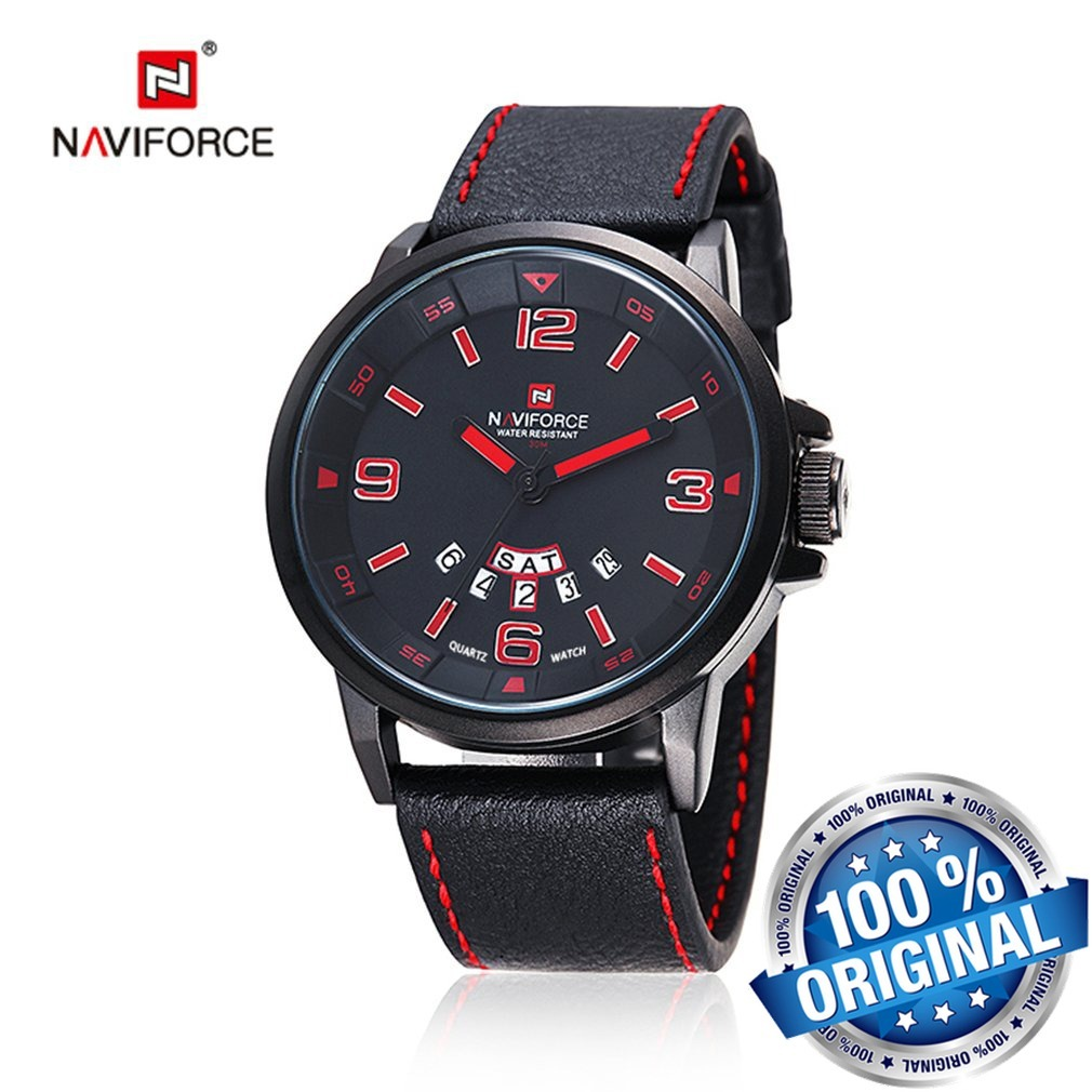 c203f024d5073 Relógio Masculino Naviforce 9028 Original Couro Super Barato - R  89 ...