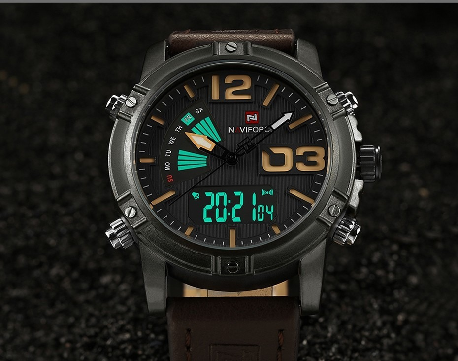 fdac0bd8645 Relógio Masculino Naviforce 9095 Original Pulseira De Couro - R  129 ...