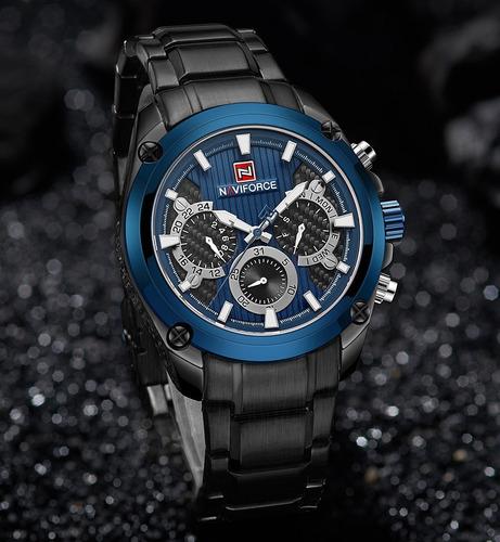 relógio masculino naviforce 9113 esportivo cronógrafo