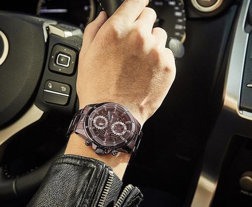 relógio masculino naviforce 9149 esportivo lançamento