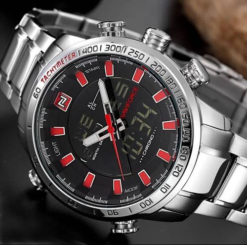 5d824a07d8b Relógio Masculino Naviforce Dourado Digital Aço Original - R  189