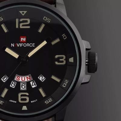 relógio masculino naviforce frete grátis pulseira de couro