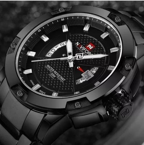 relógio masculino naviforce militar esportivo data original