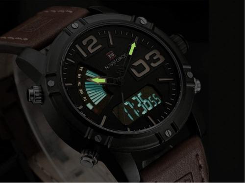 relógio masculino naviforce modelo 9095 promoção confira