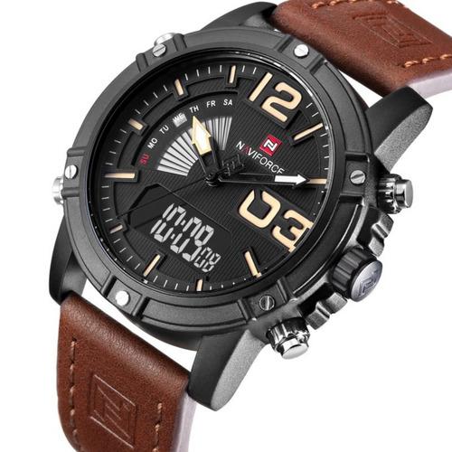 relógio masculino naviforce modelo 9095 promoção confira.