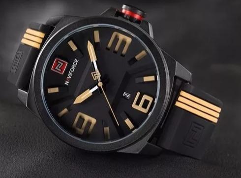 relógio masculino naviforce nf9098m + frete grátis