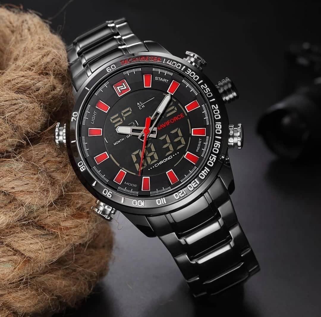 1dda3c0bd50 relógio masculino naviforce preto prata digital aço original. Carregando  zoom.