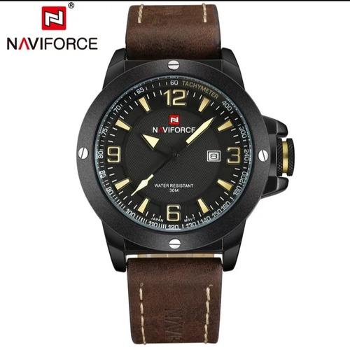 relógio masculino naviforce pulseira de couro