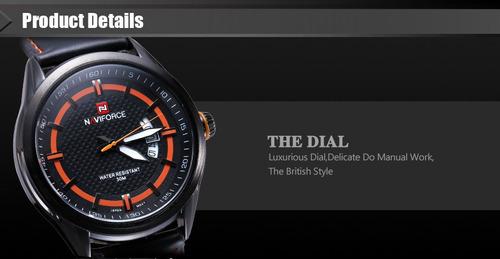 relógio masculino naviforce - social / esportivo